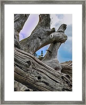 Framed Lighthouse Framed Print by Robert Bales