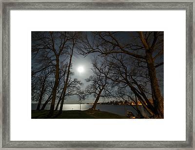 Framing The Moon Framed Print by Matt Molloy