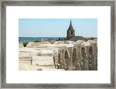 France, Arles, Roman Amphitheater Framed Print by Emily Wilson