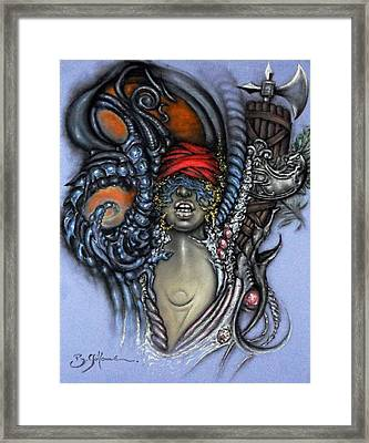 France Belle Et Rebelle Deux Framed Print by Guillaume Bruno
