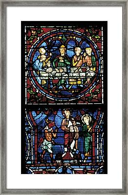 France. Chartres. Notre Dame Cathedral Framed Print by Everett