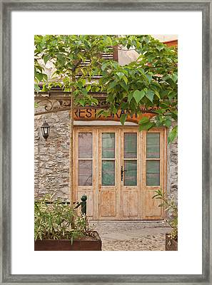 France, Corsica, Corte, Place Gaffori Framed Print by Walter Bibikow