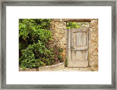 France, Corsica, La Balagne, Pigna Framed Print by Walter Bibikow