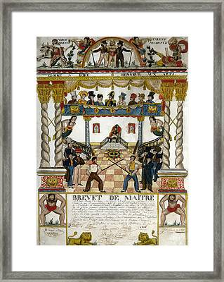 France Fencing, 1825 Framed Print by Granger
