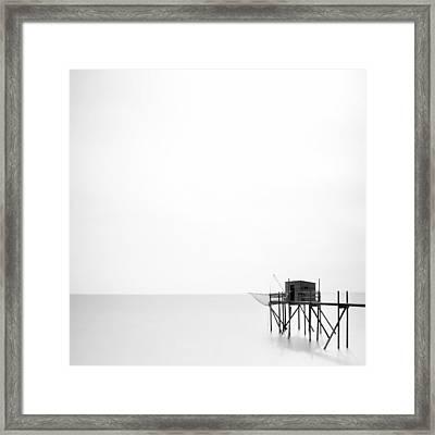 France Fishing Hut Framed Print by Nina Papiorek