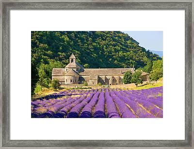 France, Gordes Cistercian Monastery Framed Print by Jaynes Gallery