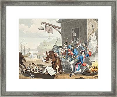France, Illustration From Hogarth Framed Print by William Hogarth