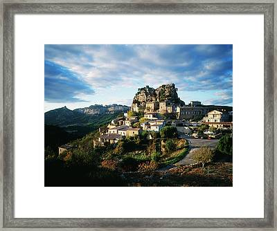 France, La Roque-alric, Vaucluse Framed Print by David Barnes