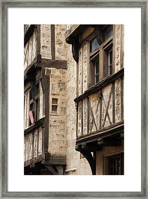 France, Normandy, Bayeux, Rue St-martin Framed Print by Walter Bibikow
