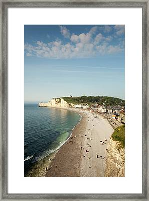 France, Normandy, Etretat, Elevated Framed Print by Walter Bibikow