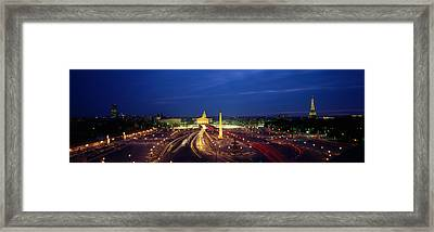 France, Paris, Place De La Concorde Framed Print by Panoramic Images