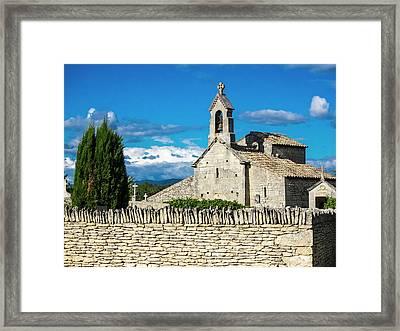 France, Provence, Saint Pantaleon Framed Print by Terry Eggers
