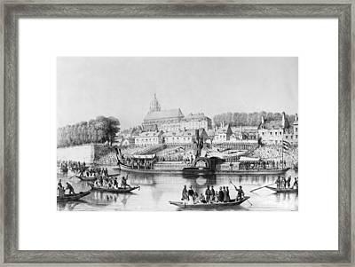 France Steamboat, 1839 Framed Print by Granger