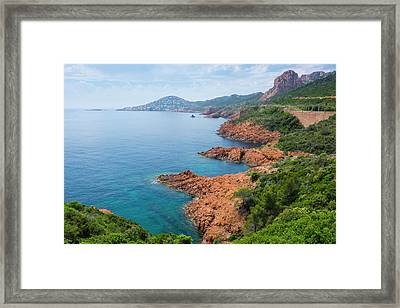 France, The Cote D'azur, Also Called Framed Print by Emily Wilson