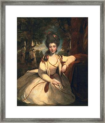 Frances Molesworth, Later Marchioness Framed Print by Sir Joshua Reynolds