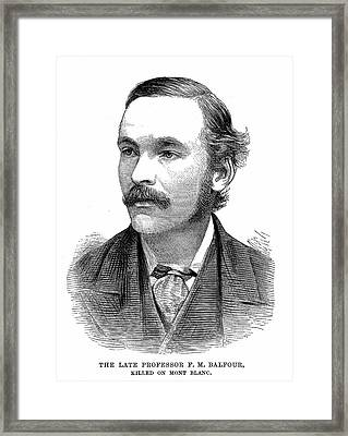 Francis Balfour Framed Print by Universal History Archive/uig