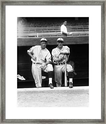 Francis J. Lefty O'doul With Chuck Klein Framed Print by Retro Images Archive