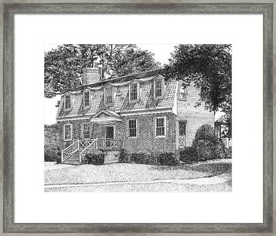Francis Land House Framed Print by Stephany Elsworth
