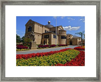 Franciscan Monastery In Washington Dc Framed Print by Jean Doepkens Wright