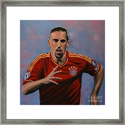 Franck Ribery Framed Print by Paul Meijering