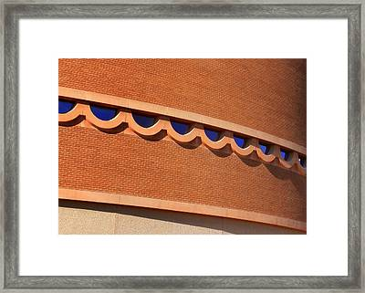 Frank Lloyd Wright Designed Auditorium Window Detail Framed Print by Karyn Robinson