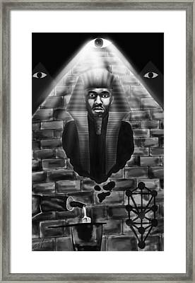 Frank Ocean Pyramids Inspired Framed Print by Pierre Louis