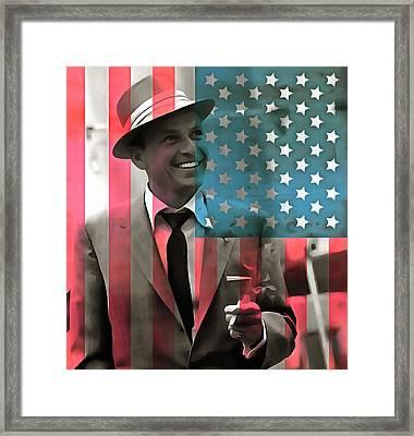 Frank Sinatra American Legend Framed Print by Dan Sproul
