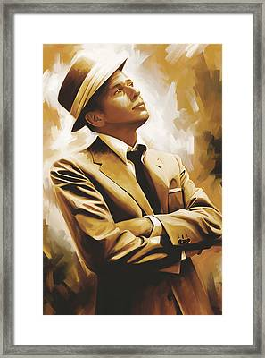 Frank Sinatra Artwork 1 Framed Print by Sheraz A