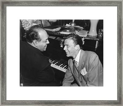 Frank Sinatra At Stork Club Framed Print by Underwood Archives