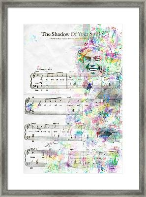 Frank Sinatra Framed Print by Jonas Luis