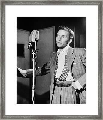 Frank Sinatra Framed Print by Georgia Fowler
