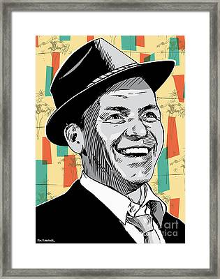 Frank Sinatra Pop Art Framed Print by Jim Zahniser