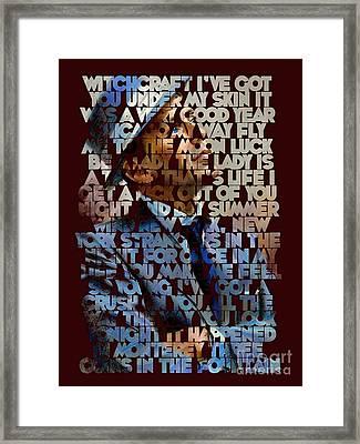 Frank Sinatra - The Songs Framed Print by Spencer McKain