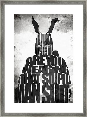 Frank The Rabbit - Donnie Darko Framed Print by Ayse Deniz