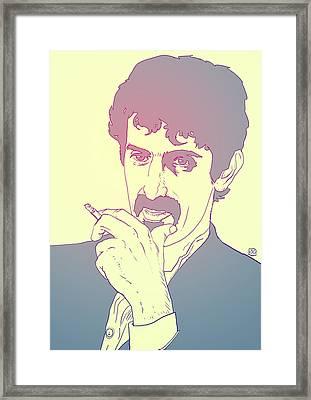 Frank Zappa Framed Print by Giuseppe Cristiano