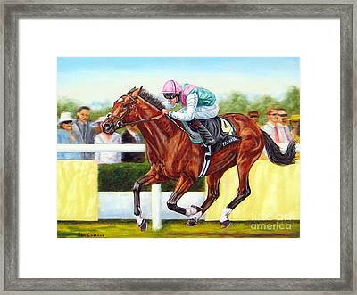 Frankel Winning At Royal Ascot Framed Print by Tom Chapman