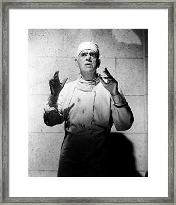 Frankenstein 1970, Boris Karloff, 1958 Framed Print by Everett