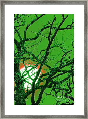 Frankenstein Moon Framed Print by First Star Art