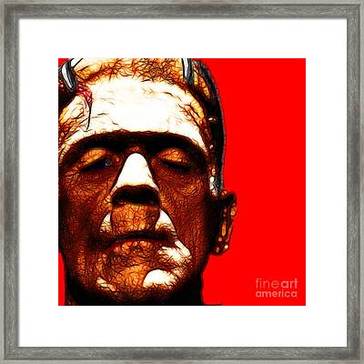 Frankenstein Red Square Framed Print by Wingsdomain Art and Photography