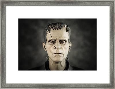 Frankenstein's Monster - Boris Karloff Framed Print by Marco Oliveira