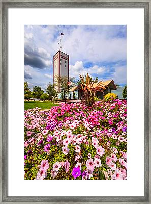 Frankfort Grainery And Flowers In Frankfort Illinois Framed Print by Paul Velgos