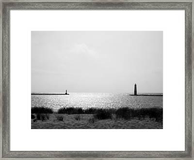 Frankfort Michigan Harbor Framed Print by Michelle Calkins