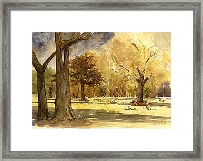 Frankfurter Park Framed Print by Juan  Bosco