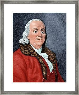 Franklin, Benjamin (1706-1790 Framed Print by Prisma Archivo