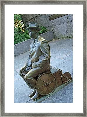 Franklin Delano Roosevelt In A Wheelchair Framed Print by Cora Wandel