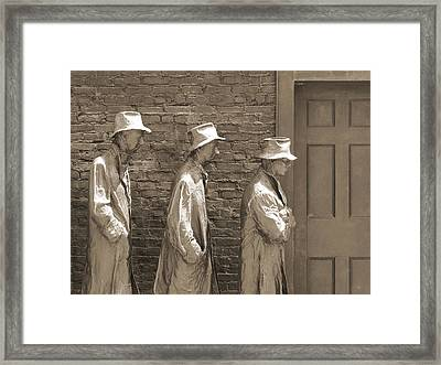 Franklin Delano Roosevelt Memorial - Bits And Pieces1 Framed Print by Mike McGlothlen