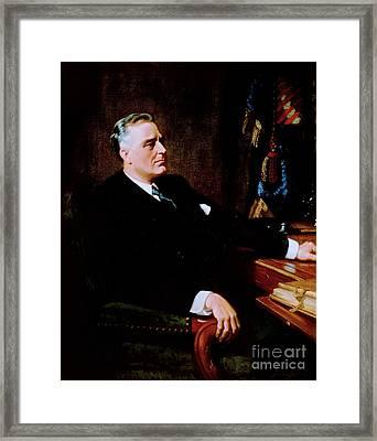 Franklin Delano Roosevelt Framed Print by Pg Reproductions