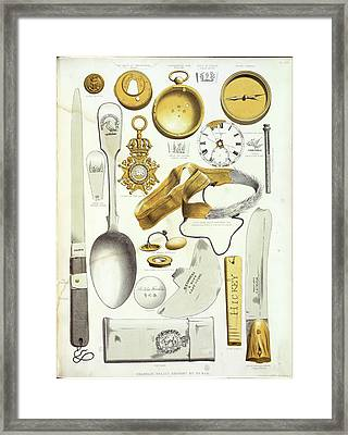 Franklin Expedition Relics Framed Print by British Library
