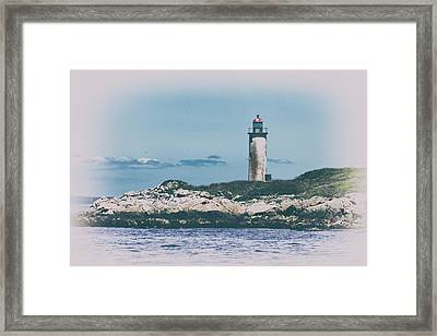 Franklin Island Lighthouse Framed Print by Karol Livote