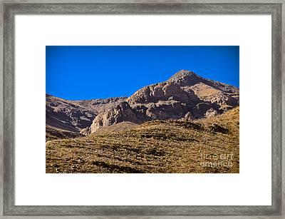 Franklin Mountains Framed Print by Charles Dobbs